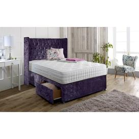 image-Hutchins Upholstered Divan Bed and Headboard Rosdorf Park Colour: Lilac, Size: Kingsize (5'), Storage Type: 2 Drawers Same Side