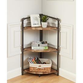 image-Burkey Corner Bookcase Blue Elephant Size: (3 Tier) 93cm H x 57.78cm W x 38.73cm D