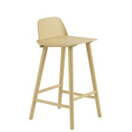 image-Nerd Bar chair - / H 65 cm - Wood by Muuto Sand yellow