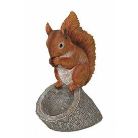 image-Holly Squirrel with Bird Bath Marlow Home Co.