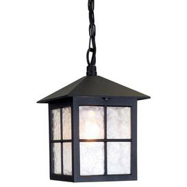 image-Elstead BL18B Winchester exterior Black hanging porch lantern, IP43