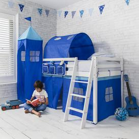 image-Bed Tidy in Blue with Pockets Bed Organiser