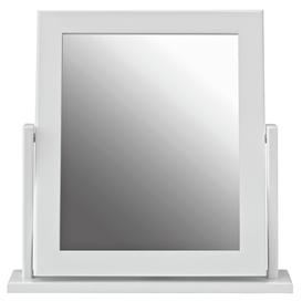 image-Argos Home Square Dressing Table Mirror - White