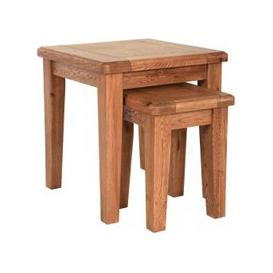 image-Carlton Rustic Manor Oak Nest of Tables