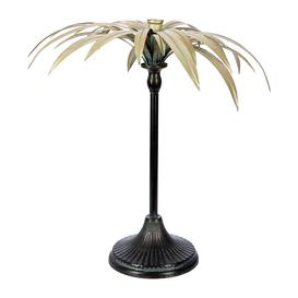 image-A by AMARA Christmas - Palm Tree Candle Holder - Gold