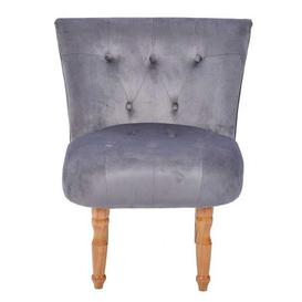 image-Lydia Occasional Fabric Chair Silver