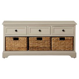 image-Jayson Wood Storage Bench House of Hampton Colour: Vintage Grey
