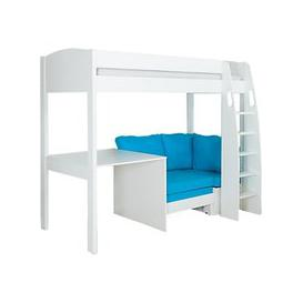 image-Stompa Uno S Plus High-Sleeper Bed with Fixed Desk and Chair Bed