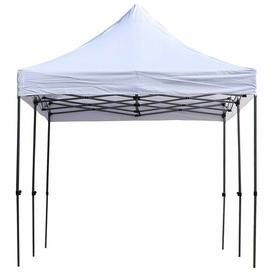 image-Milanna 5.89m x 2.97m Steel Pop Up Gazebo Sol 72 Outdoor Roof Colour: White