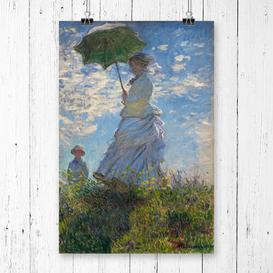 image-'Madame Monet with a Parasol' by Claude Monet Painting Print East Urban Home