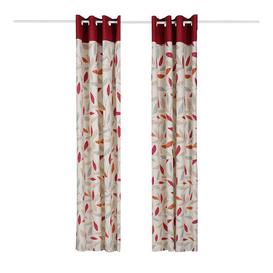 image-Alariz Eyelet Room Darkening Curtains Zipcode Design Panel Size: 229 W x 229 D cm, Colour: Red