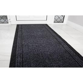 image-Pacjo Hard Wearing Rubber Doormat Mercury Row Mat Size: Runner 67 x 152.4cm, Colour: Anthracite
