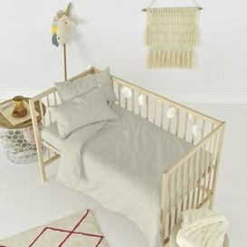 image-Rockford Fitted Cot Sheet Symple Stuff Colour: Beige