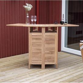 image-Baek Teak Bar Table Sol 72 Outdoor
