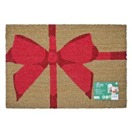 image-JVL Christmas Coir Door Mat 40 x 60cm 3 Trees