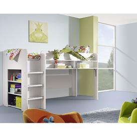 image-Filipo European Single High Sleeper Loft Bed with Bookcase Rauch