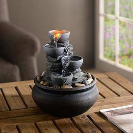 image-Belcourt Resin Table Top Fountain with LED Light