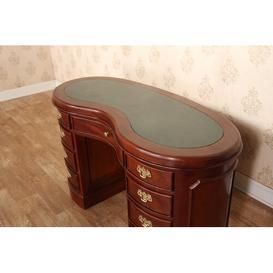 image-Gaudet Kidney Oval Secretary Desk Astoria Grand Top Colour: Green