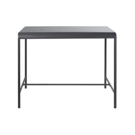 image-Grey Metal 4-Seater Counter-Height Garden Table L130 Batignolles
