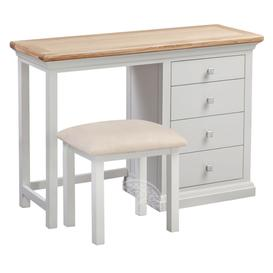 image-Wedmore Oak and Grey Painted Dressing Table Set