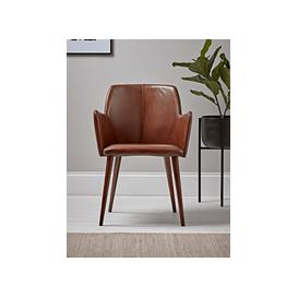 image-Italian Leather Occasional Chair