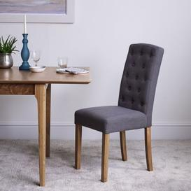 image-Bari Upholstered Chair - Grey Set of 2