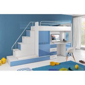 image-Murcia High Sleeper Bedroom Set Selsey Living Colour: Blue
