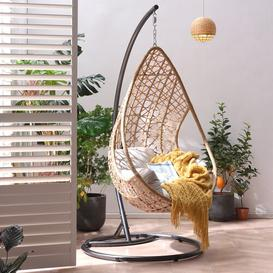 image-Holborn Indra Rattan Patio Swing Chair with Stand Bay Isle Home
