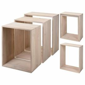 image-Gunter 3 Piece Nest of Tables Gracie Oaks Colour: Oak