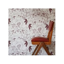 image-Hand Printed Highwire Wallpaper (colour: Grape)
