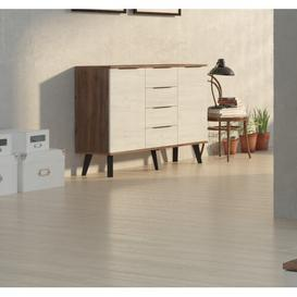 image-Thatcham Sideboard Mercury Row Colour (Body/Front): Craft Tobacco/White Craft