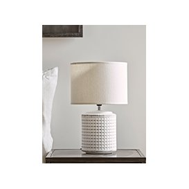 image-NEW Textured Bedside Lamp - White
