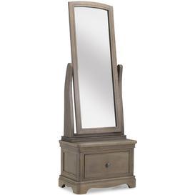 image-Georgina Grey Washed Oak Sleigh Cheval Mirror - 60cm x 166cm