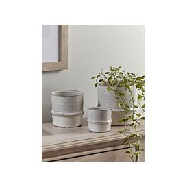 image-NEW Three Ribbed Stoneware Planters