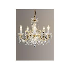 image-Impex Marie Theresa Chandelier, 5 Arm, Clear/Gold