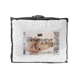 image-Luxury 10.5 Tog Hungarian Goosefeather and Down Duvet, Double