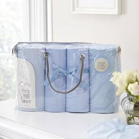 image-4 Piece Cot Bedding Set Clair De Lune Colour: Blue