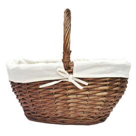 image-Wicker Basket Brambly Cottage Colour: Oak, Size: 35cm H x 50cm W x 35cm D
