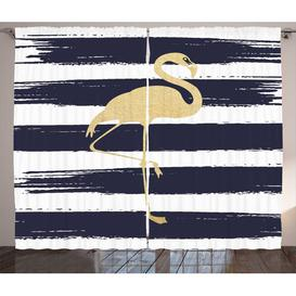 image-Flamingo Pencil Pleat Blackout Thermal Curtains East Urban Home Dimensions per curtain: 260cm H x 140cm W