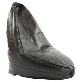 image-Slob Bean Bag Chair Freeport Park Upholstery: Leather Black