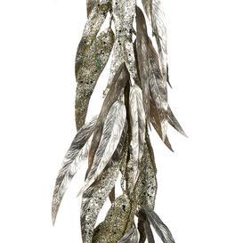 image-A by AMARA Christmas - Metallic Glitter Eucalyptus Garland - Champagne