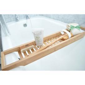 image-Braeden Bamboo Bath Bridge Bathtub Rack Symple Stuff