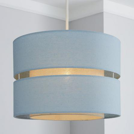 image-Frea 34cm Drum Duck Egg Shade Duck Egg Blue