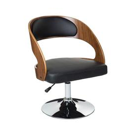 image-Teddy's Collection Round Back Black Bar Chair