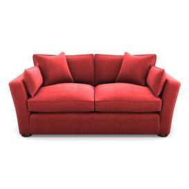 image-Aldeburgh Sofabed 3 Seater Sofabed in Textured Velvet- Firebrick
