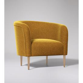 image-Swoon Cecily Armchair in Turmeric Smart Wool With Light Feet