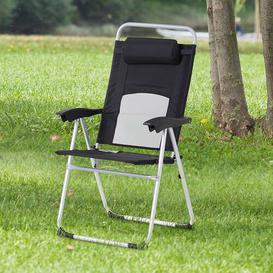 image-Misk Folding Patio Dining Chair Dakota Fields Colour: Black