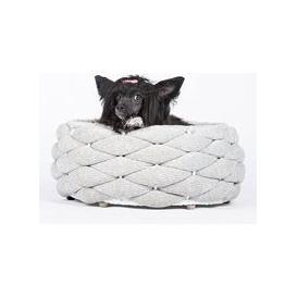 image-Laboni Riva Dog Bed in Light Grey