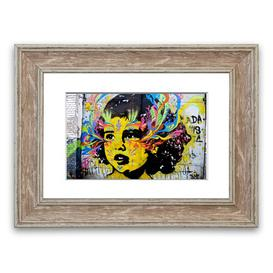 image-Flower Child - Picture Frame Graphic Art Print on Paper