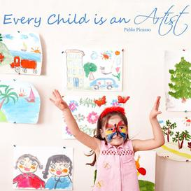 image-Every Child is an Artist Wall Sticker East Urban Home Colour: Purple